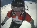 Ski freeriding and some trippy helmet cam footy
