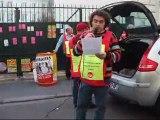 Rassemblement  intersyndical 17 février 2011 à Tours