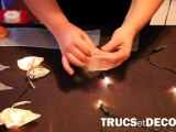 Décoration d'une guirlande lumineuse par TrucsetDeco.com