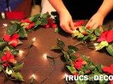 Guirlande lumineuse customisée de fleurs par TrucsetDeco.com