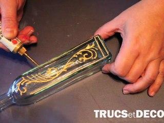Créer des cloisons en peinture sur verre par TrucsetDeco.com