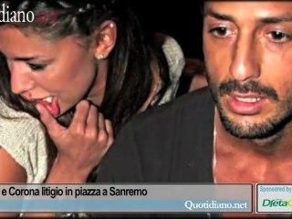 Tra Belen e Corona litigio in piazza a Sanremo