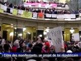 Etats-Unis: 65.000 manifestants pour les droits syndicaux
