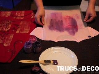 Peinture sur tissu par TrucsetDeco.com