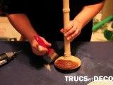 Vieillir du bois et customiser une lampe - TrucsetDeco.com