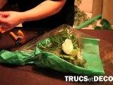 Emballer un bouquet comme le fleuriste par TrucsetDeco.com