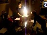 Joyeux Anniversaire Lucie! Le gâteau&les bougies en famille!
