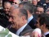 Chirac arrive en superstar au Salon de l'agriculture