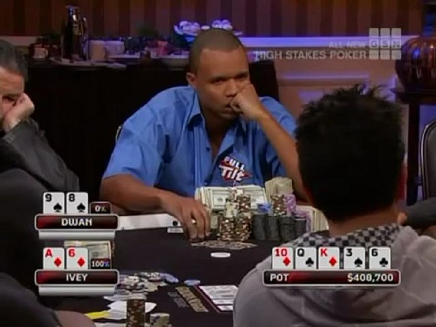 Tom Dwan vs Phil Ivey : gros bluff à plus de 600 000$