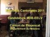 Candidature UDB EELV Plouescat Elections Cantonales 2011