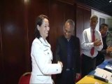 S.Royal et V.Lurel signent deux conventions de partenariats