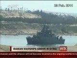 Navires de guerre iraniens arrivent en Syrie