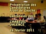 Cantonales Drôme : Présentation  Valence Chabeuil