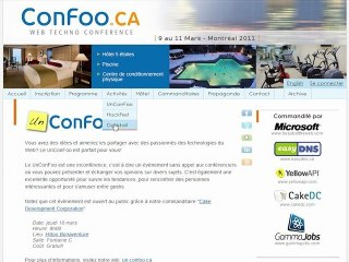 La conférence techno Confoo 2011 (version 2.0)