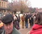 Gérard Paillard était bien entouré, une foule compacte, tout