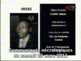 Communiqués nécrologiques du 05-03-11