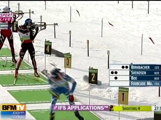 Mondiaux biathlon : M. Fourcade remporte l'or