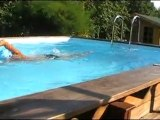 Bassin de nage à contre courant en Bois exotique Swimform