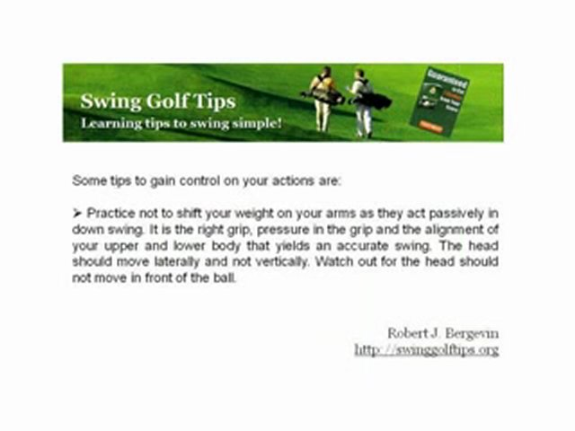 What Is Down Golf Swing