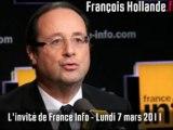 François Hollande - L'invité de France Info - 07/03/11