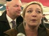 A Strasbourg, Marine Le Pen savoure les derniers sondages