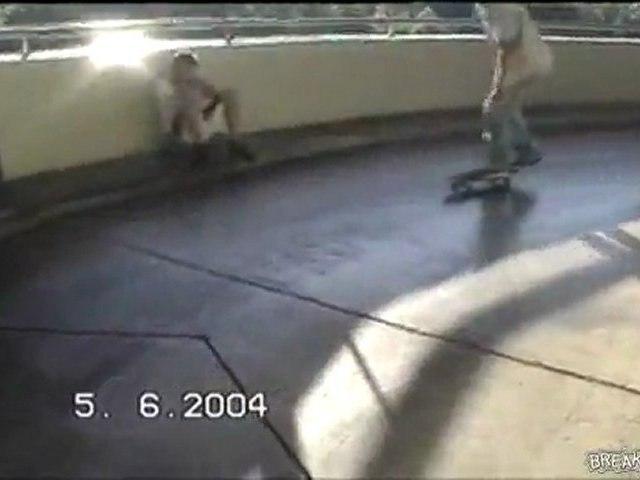 Skateboard Kickflip Slide