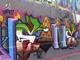Mur pyrénées Graffeurs en action #  4