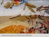 Tissage d'une tapisserie d'Aubusson de LARTIGAUD.