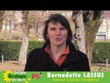 Bernadette Lassus candidate EELV PS canton Luynes Fondettes
