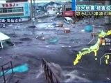 Ground level footage of tsunami hitting Kesennuma Japan