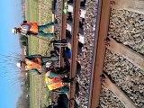 Soudure d'un rail lors des travaux Voie Hazebrouck Dunkerque