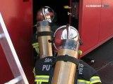 Un caisson pour simuler un feu d'appartement (Puy-de-Dôme)