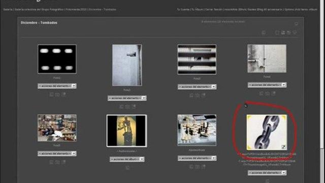 Añadir enlaces en una galeria de nosolofoto