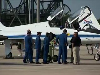 Atlantis' Hubble Crew Arrives at NASA's Kennedy Space Center for Launch