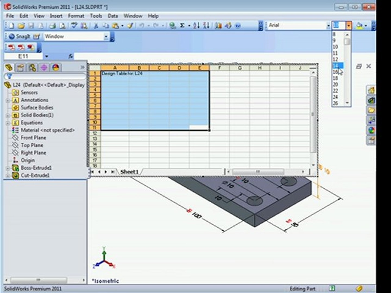 solidworks 2011 tutorials  Configuration