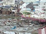 Surveying the damage in northeast Japan