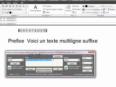 Nouvel éditeur de texte pour AutoCAD et AutoCAD LT