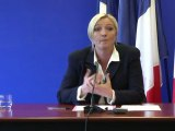 """Marine Le Pen: """"Le seul front républicain, c'est le FN"""""""