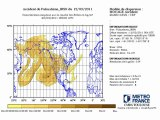 L'évolution du nuage radioactif japonais