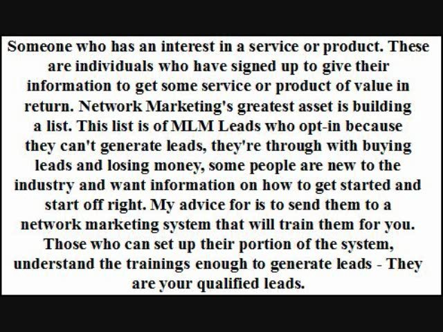 What Are MLM Leads Lead Generation Lead Attraction Referral Marketing MLM Prospects MLM Recruiting