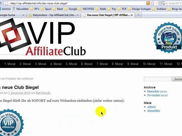 Affiliatemarketing Vip-Club