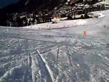 une descente en ski a la plagne