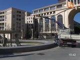 Les statues de la place Thessalie sont parties (Montpellier)
