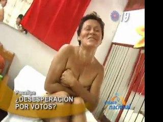 Candidata al Congreso se desnuda para conseguir votos en Pucallpa