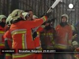 Firefighters spray foam over police officers - no comment