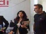 Very Hot Shamita Shetty Looks Hot In Black Dress At Audi Magazine launch