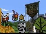 minecraft koreus ville 4 avec le vaisseau d' albator