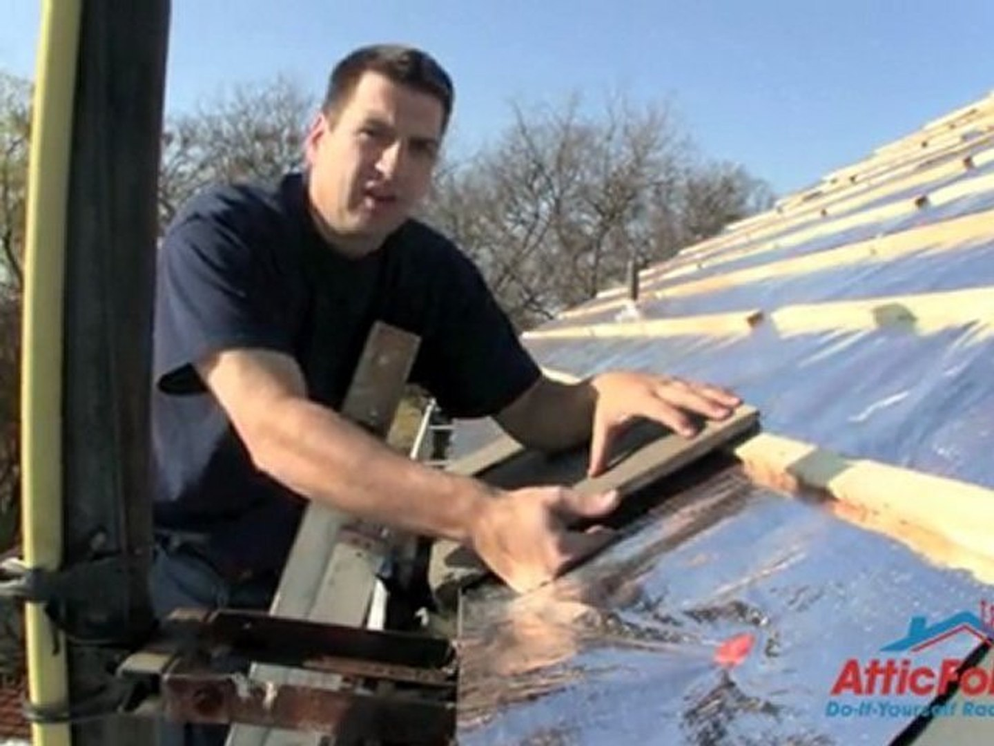 How To Install Atticfoil Radiant Barrier Foil Insulation Under Metal Tile Or Concrete Roofing Systems Video Dailymotion