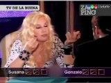 Higuain jugando al truco con Susana (Zapping)