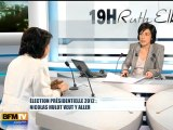 "Invitée Ruth Elkrief : Corinne Lepage ""Faut-il soutenir la candidature de Nicolas Hulot ?"""